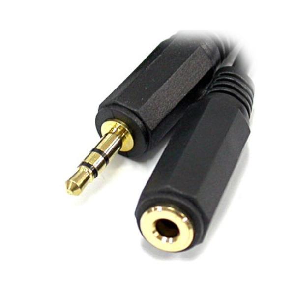 디바이스마트,컴퓨터/모바일/가전 > 네트워크/케이블/컨버터 > 음성 관련 케이블 > 스테레오/ST - RCA 케이블,,NETmate 스테레오(3.5) 연장 케이블 (M/F) 5M,Stereo 3.5M/3.5F 연장 Cable/5M