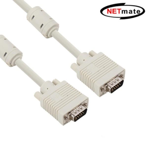디바이스마트,컴퓨터/모바일/가전 > 네트워크/케이블/컨버터 > 영상 관련 케이블 > D-Sub(RGB) 케이블,,NETmate RGB(VGA) 모니터 케이블 [베이지/3M] [NMC-R30G],일반모니터/RGB/3M