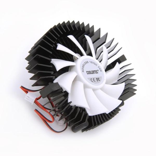 디바이스마트,컴퓨터/모바일/가전 > 컴퓨터 부품 > 쿨러/튜닝용품 > 그래픽카드 쿨러,,CTV-C5 Silent White (그래픽카드 쿨러/홀간격 43mm,53mm/2핀),VGA 쿨러/80mm쿨링팬/15T/유체베어링/알루미늄/2핀