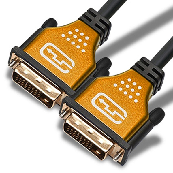 케이블메이트 DVI-D 듀얼 최고급형 골드메탈 케이블 1.8M