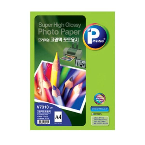 잉크젯전용 포토용지, 고광택, V7310 [A4/1권X20매]