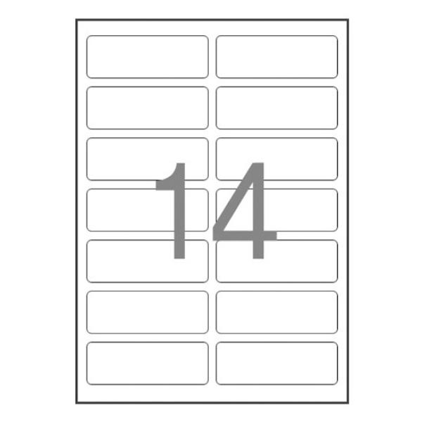 주소용 라벨지, 일반형 [14칸(2X7)/100매] [사이즈:99.1X38.1]