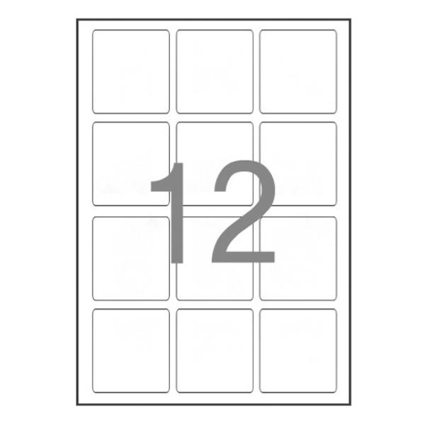 물류관리용 라벨지, 일반형 [12칸(3x4)/100매] [사이즈:64X70]