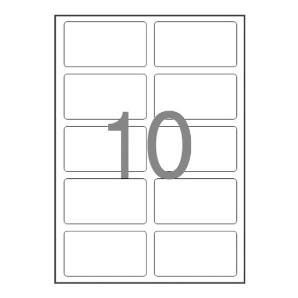 물류관리용 라벨지, 일반형 [10칸(2X5)/100매] [사이즈:88.9X52]