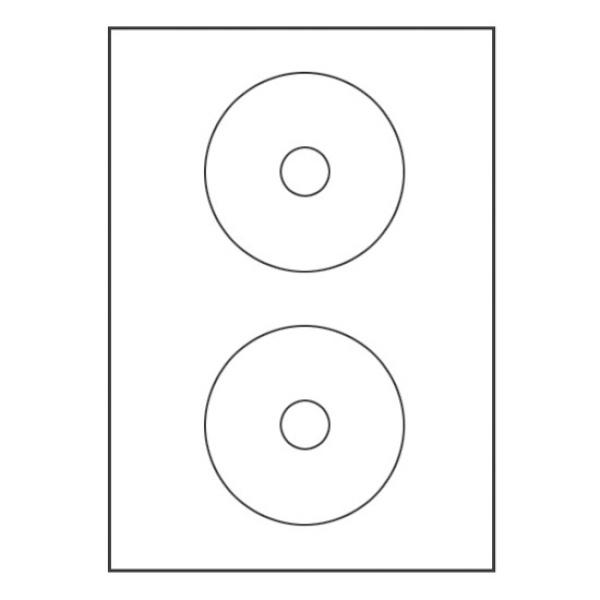 CD.DVD용 라벨지, 41mm [2칸/100매]