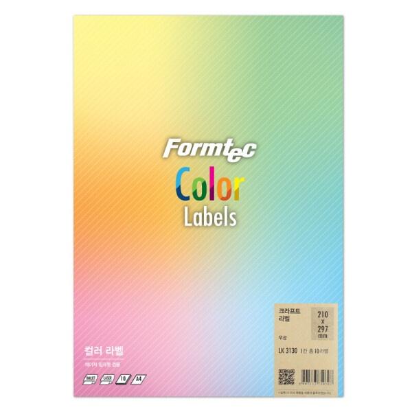 디바이스마트,컴퓨터/모바일/가전 > 잉크/토너/용지/공미디어 > 사무/복사용지 > 폼/롤 라벨지,,컬러 라벨지, 크라프트지, LK-3130 [1칸/10매] [사이즈:210X297],라벨용지 / 용지규격: A4 / 라벨칸수: 1칸 / 크라프트 / 크기:210 x 297mm