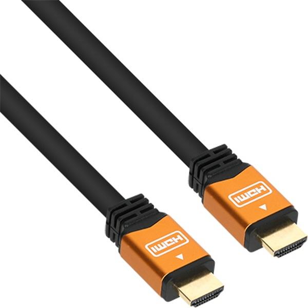 디바이스마트,컴퓨터/모바일/가전 > 네트워크/케이블/컨버터 > 영상/음성 통합 관련 케이블 > HDMI 케이블,,NETmate HDMI 메탈 케이블 [Ver2.0] [1M/골드] [NM-HM01GZ],HDMI Ver1.4 / 케이블 길이 1M / Full HD 3D (1920 x 1080)