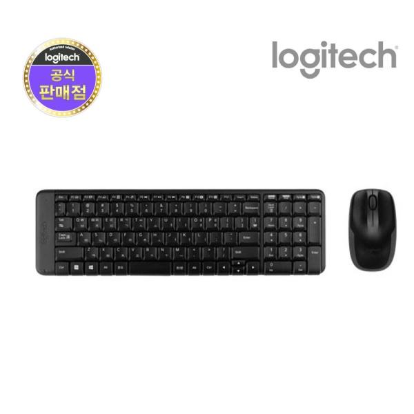 무선 데스크탑 세트, MK220 [로지텍코리아정품] [블랙]