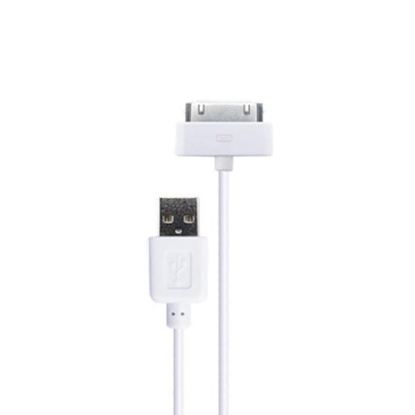 NETmate 라이트닝 30핀 To USB 케이블 0.3M [화이트/30핀]