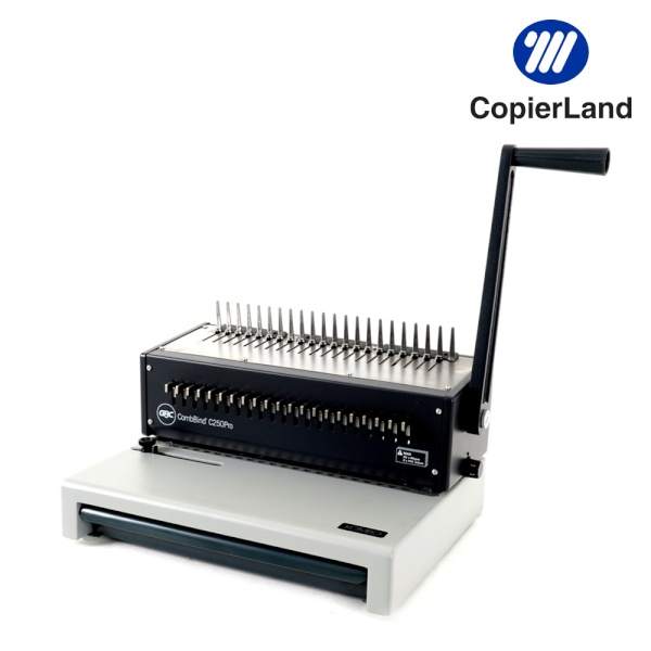 디바이스마트,컴퓨터/모바일/가전 > 가구/사무용품/공구 > 사무기기 > 제본기,,[플라스틱 제본기] C250 Pro [제본450매/천공20매/핀조절가능/링100개+표지100매 증정],플라스틱 링제본기/ 크기: 380x300x240mm/ 무게: 10.4kg/ 수동식 / 제본폭30cm(A4) / 최대제본450매 / 천공20매 / 천공수,깊이조절 / 플라스틱링