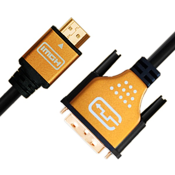 케이블메이트 HDMI to DVI 골드메탈 케이블 1.2M