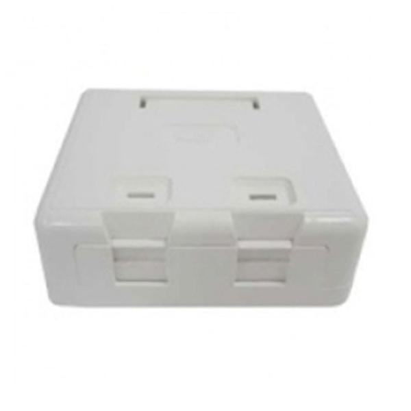 LS전선 노출형 아울렛 박스, 모듈포함 2포트, CAT.5E [흰색]