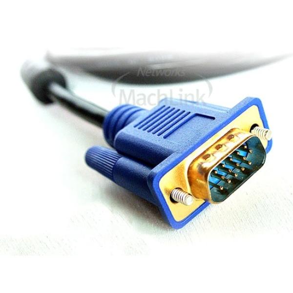 디바이스마트,컴퓨터/모바일/가전 > 네트워크/케이블/컨버터 > 영상 관련 케이블 > D-Sub(RGB) 케이블,,마하링크 RGB(VGA) 세미 모니터 케이블 [블랙/1.8M] [ML-RGBS018],D-SUB 케이블 / 케이블 길이 1.8M / 노이즈필터 / UL AWM 2919인증