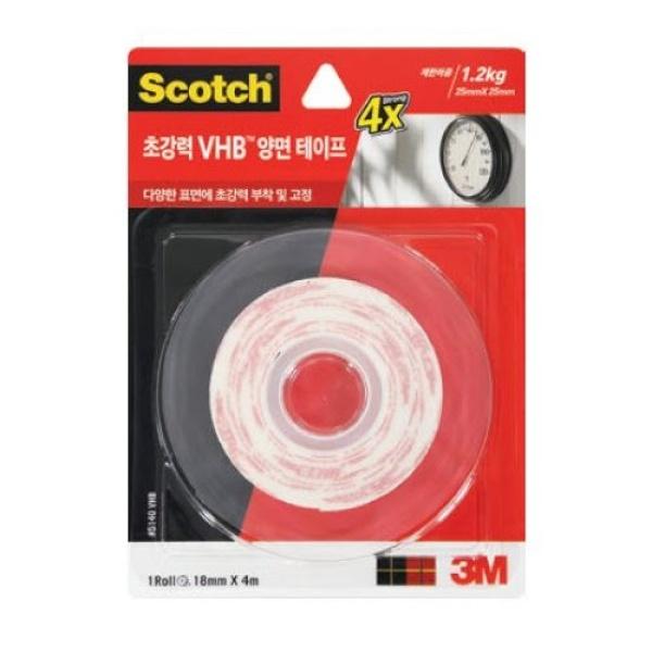 스카치 VHB 양면 테이프 [제품 선택] 5140(18mm x 4m)