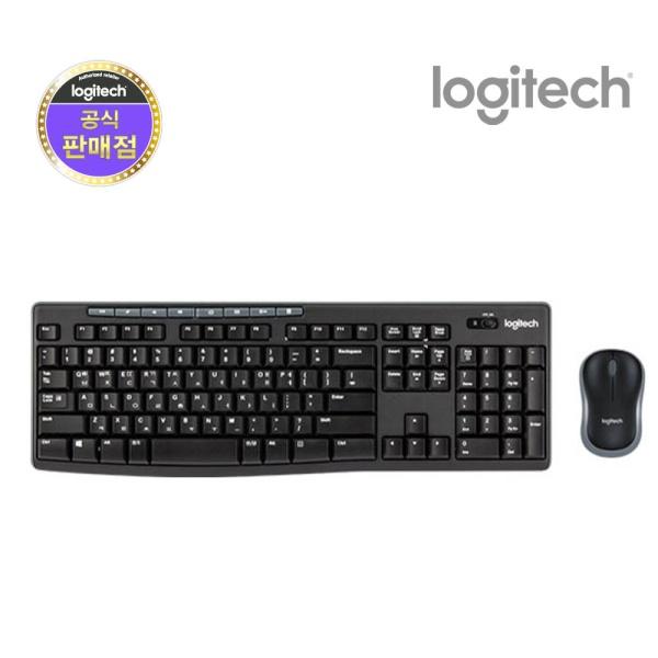 디바이스마트컴퓨터/네트워크/모바일 > 모니터/주변기기 > 키보드/마우스/타블렛/프리젠터 > 키보드/마우스 세트무선 데스크탑 세트, MK270r [로지텍코리아정품] [블랙]