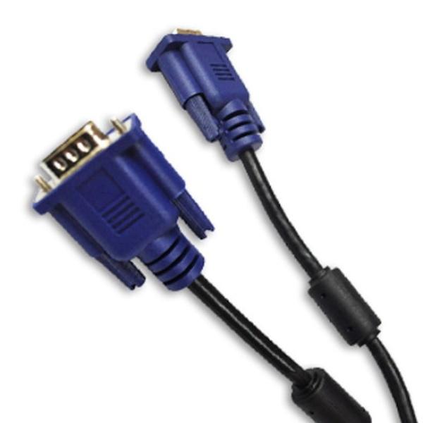 디바이스마트,컴퓨터/모바일/가전 > 네트워크/케이블/컨버터 > 영상 관련 케이블 > D-Sub(RGB) 케이블,,엠비에프 세미 RGB(VGA) 모니터 슬림 케이블 [블랙/10M],D-SUB 케이블 / 케이블 길이 10M / 노이즈필터