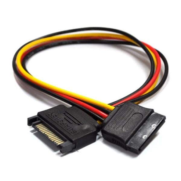 디바이스마트,컴퓨터/모바일/가전 > 네트워크/케이블/컨버터 > 리피터/전원/젠더/변환케이블 > 파워/기타 전원 케이블,,엠비에프 SATA 전원 연장케이블 [0.3M],SATA 전원케이블 / SATA 연장형 / 30CM