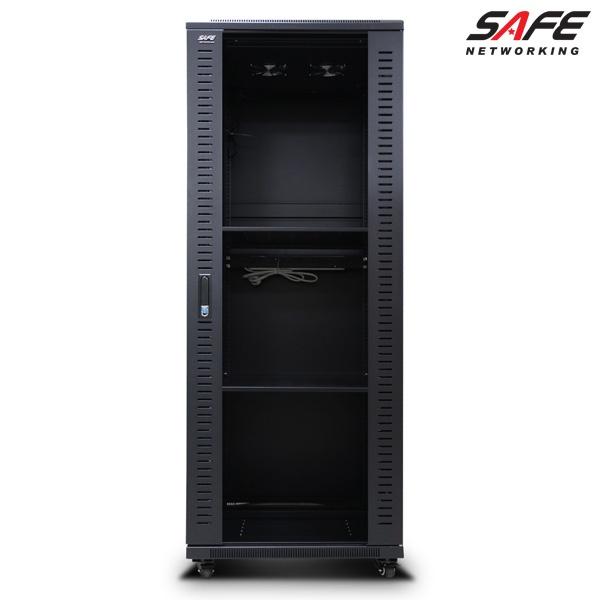 디바이스마트,컴퓨터/모바일/가전 > 네트워크/케이블/컨버터 > UPS/랙케비넷 > 서버랙/허브랙/악세서리,,HPS 허브랙 [SAFE 시리즈] SAFE-1600H [32U] 블랙 [SAFE-1600H] [32U],사이즈 1600x750x600 / 케이지너트 타입 / 선반 2개 / 냉각팬 2개(120mm) / 국산 6구 멀티탭 2개 포함 / 바퀴 4개