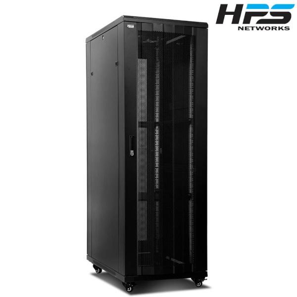디바이스마트,컴퓨터/모바일/가전 > 네트워크/케이블/컨버터 > UPS/랙케비넷 > 서버랙/허브랙/악세서리,,HPS 서버랙 [HPS 시리즈] 블랙 [HPS-2000S] [42U],사이즈 2000x1000x600 / 케이지너트 타입 / 선반 2개 / 냉각팬 2개(120mm) / 동양 10구 멀티탭 1개 포함 / 바퀴 4개