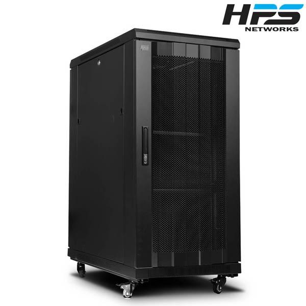 디바이스마트,컴퓨터/모바일/가전 > 네트워크/케이블/컨버터 > UPS/랙케비넷 > 서버랙/허브랙/악세서리,,HPS 서버랙 [HPS 시리즈] 블랙 [HPS-1200S] [22U],사이즈 1200x1000x600 / 케이지너트 타입 / 선반 2개 / 냉각팬 2개(120mm) / 동양 8구 멀티탭 1개 포함 / 바퀴 4개
