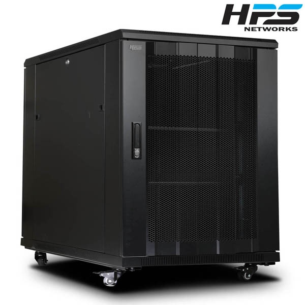 디바이스마트,컴퓨터/모바일/가전 > 네트워크/케이블/컨버터 > UPS/랙케비넷 > 서버랙/허브랙/악세서리,,HPS 서버랙 [HPS 시리즈] 블랙 [HPS-750S] [15U],사이즈 750x1000x600 / 케이지너트 타입 / 선반 2개 / 냉각팬 2개(120mm) / 동양 8구 멀티탭 1개 포함 / 바퀴 4개