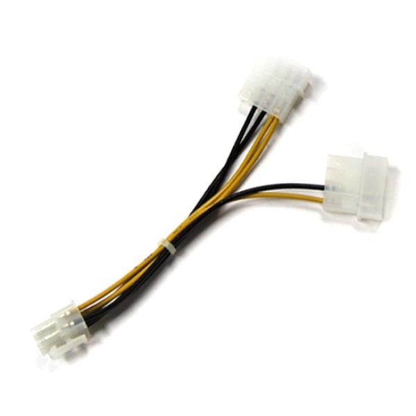 디바이스마트,컴퓨터/모바일/가전 > 네트워크/케이블/컨버터 > 리피터/전원/젠더/변환케이블 > 파워/기타 전원 케이블,,케이블메이트 12V   보조 전원케이블 [VGA PCI-E용/육각] 0.15M,그래픽카드 보조 전원용 / PCI-E 케이블 / 6핀 - 4핀x2 / 육각