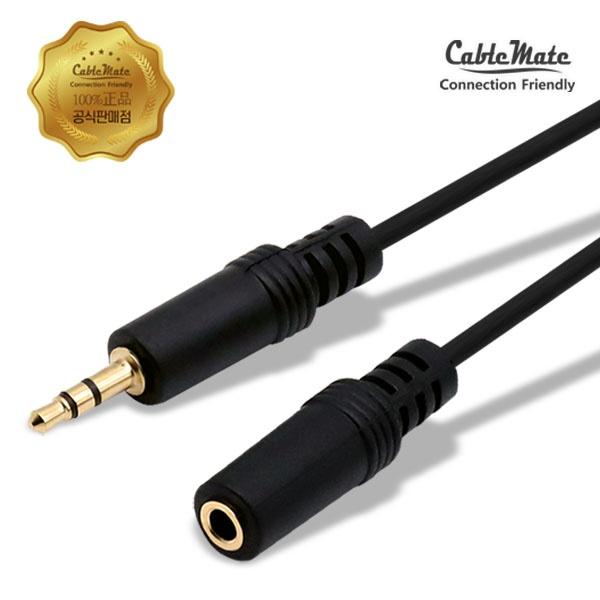 디바이스마트,컴퓨터/모바일/가전 > 네트워크/케이블/컨버터 > 음성 관련 케이블 > 스테레오/ST - RCA 케이블,,케이블메이트 스테레오(3.5) 연장 케이블 (M/F) 1.5M,연장 스테레오 케이블 / 케이블 길이 1.5M