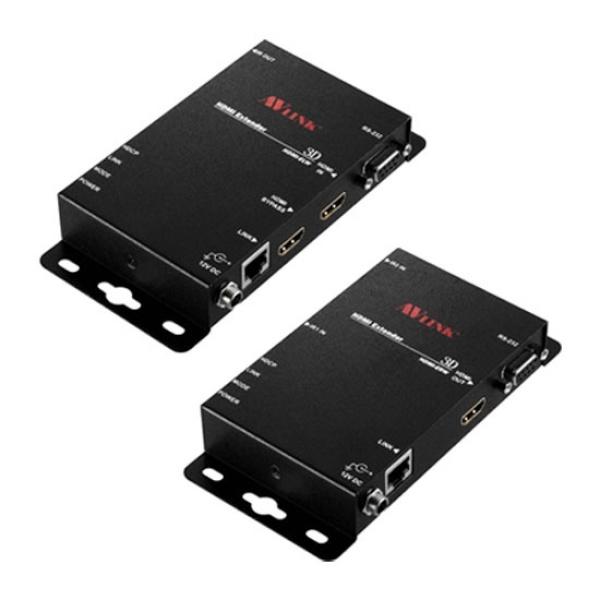 NETmate HDMI+RS232 리피터 송수신기 세트, HDMI-EXW [최대100M/RJ-45]