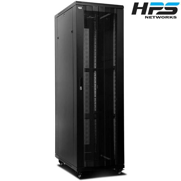 디바이스마트,컴퓨터/모바일/가전 > 네트워크/케이블/컨버터 > UPS/랙케비넷 > 서버랙/허브랙/악세서리,,HPS 서버랙 [HPS 시리즈] 블랙 [HPS-2200S] [47U],사이즈 2200x1000x600 / 케이지너트 타입 / 선반 2개 / 냉각팬 2개(120mm) / 동양 10구 멀티탭 1개 포함 / 바퀴 4개