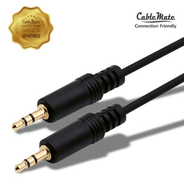 디바이스마트,컴퓨터/모바일/가전 > 네트워크/케이블/컨버터 > 음성 관련 케이블 > 스테레오/ST - RCA 케이블,,케이블메이트 스테레오(3.5) 케이블 2M,일반 스테레오 / 2M