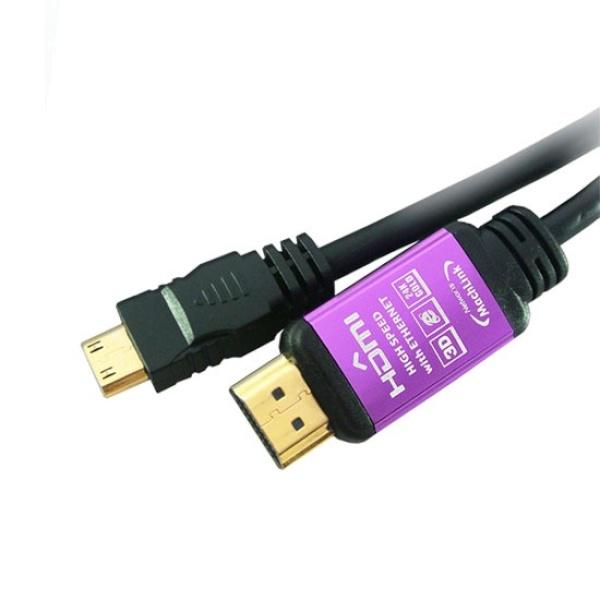 디바이스마트,컴퓨터/모바일/가전 > 네트워크/케이블/컨버터 > 영상/음성 통합 관련 케이블 > HDMI 케이블,,마하링크 HDMI to Mini HDMI 케이블 [Ver1.4] 5M [ML-HM050],HDMI to Mini HDMI / Ver1.4 / 케이블 길이 1.2M / Full HD 3D