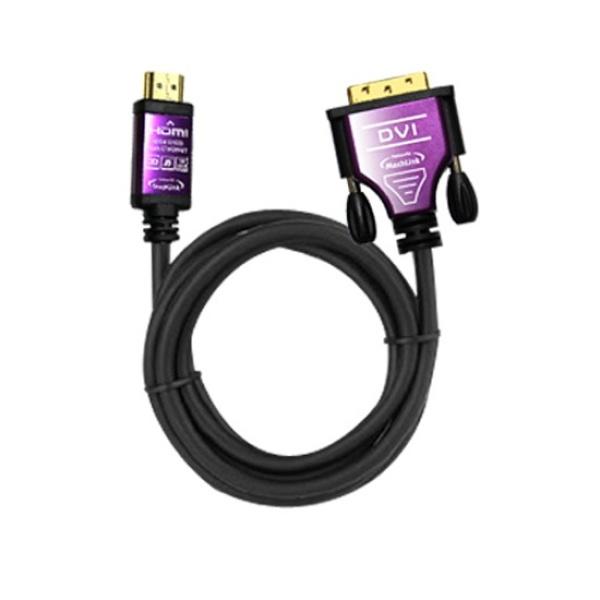 디바이스마트,컴퓨터/모바일/가전 > 네트워크/케이블/컨버터 > 영상 관련 케이블 > DVI 케이블,,마하링크 HDMI to DVI 케이블 10M [ML-HD100],DVI to HDMI / HDMI Ver1.4 / 듀얼링크 / HDMI to DVI-D / 금도금 커넥터 / 케이블 길이 10M / 보호캡