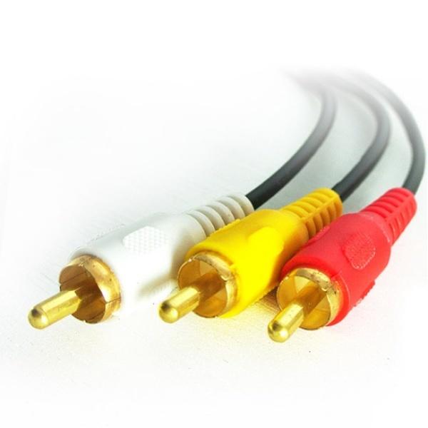 디바이스마트,컴퓨터/모바일/가전 > 네트워크/케이블/컨버터 > 영상/음성 통합 관련 케이블 > RCA3선 케이블,,마하링크 3RCA(M) to 3RCA(M) 케이블 5M [ML-3RC050],아날로그 음성+영상지원 / 3선 / 케이블길이 5M