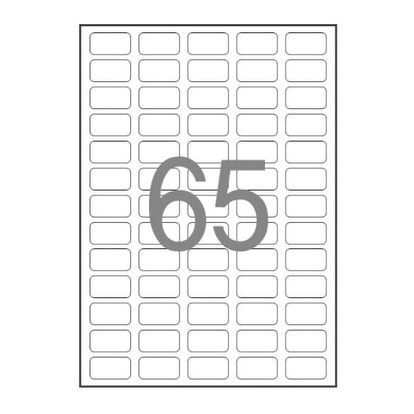 디바이스마트,컴퓨터/모바일/가전 > 잉크/토너/용지/공미디어 > 사무/복사용지 > 폼/롤 라벨지,,바코드용 라벨지, 일반형 [65칸(5X13)/100매] [사이즈:38.1X21.2],폼 라벨지 / 바코드용 라벨 / 41-100칸 / 레이저-잉크젯 겸용