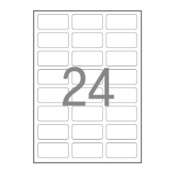 주소용 라벨지, 일반형 [24칸(3X8)/100매] [사이즈:64X34]