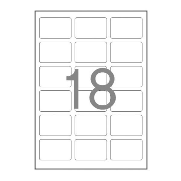 디바이스마트,컴퓨터/모바일/가전 > 잉크/토너/용지/공미디어 > 사무/복사용지 > 폼/롤 라벨지,,분류표기용 라벨지, 일반형 [18칸(3X6)/100매] [사이즈:63.5X45],폼 라벨지 / 분류표기용 라벨 / 11-20칸 / 레이저-잉크젯 겸용