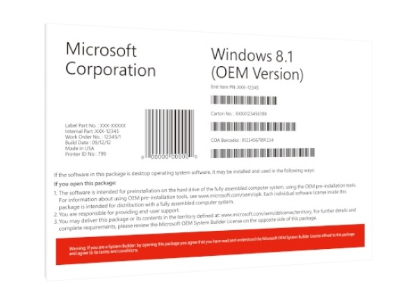 Windows 8.1 K [한글/COEM(DSP)/32bit/멀티 랭귀지]