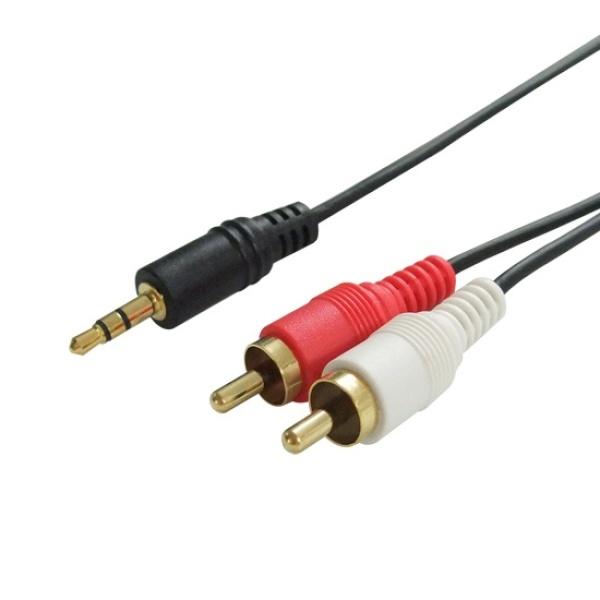 디바이스마트,컴퓨터/모바일/가전 > 네트워크/케이블/컨버터 > 음성 관련 케이블 > 스테레오/ST - RCA 케이블,,대원TMT 스테레오(3.5)- 2 RCA 케이블 10M [DW-ST2RCA-10M],STRCA 2선 / 일반 스테레오 / 10M