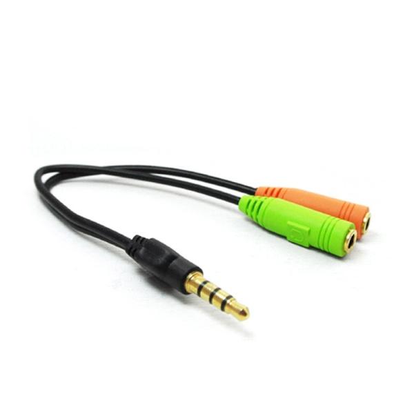 디바이스마트,컴퓨터/모바일/가전 > 네트워크/케이블/컨버터 > 음성 관련 케이블 > 스테레오/ST - RCA 케이블,,HDTOP 4극 3.5 스테레오 Y케이블 0.15M [HT-SY15],4극(M) to 3극(F) / 스테레오 케이블