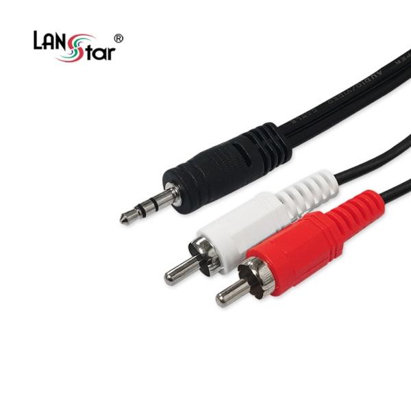디바이스마트,컴퓨터/모바일/가전 > 네트워크/케이블/컨버터 > 음성 관련 케이블 > 스테레오/ST - RCA 케이블,,랜스타 3.5 스테레오 to 2RCA 케이블 30M [LS-2RST-30M],3.5ST to 2RCA /  케이블 길이 30M