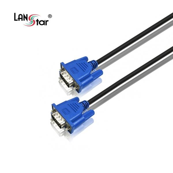 디바이스마트,컴퓨터/모바일/가전 > 네트워크/케이블/컨버터 > 영상 관련 케이블 > D-Sub(RGB) 케이블,,랜스타 RGB(VGA) 모니터 슬림 케이블 [블랙/3M] [LS-SRGB-15MM-3M],D-SUB (3+6) 케이블 / 케이블 길이 3M / 노이즈필터