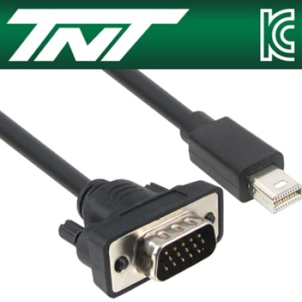 TNT Mini DP 1.1 to VGA 케이블 15M [NM-TNT90] [블랙]