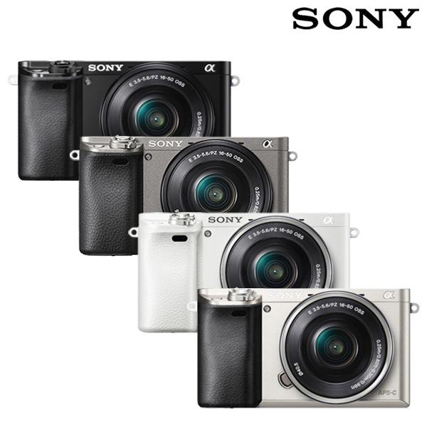 [정품] 소니 미러리스 카메라 A6000L 표준 줌 렌즈키트 [바디 + 16-50mm 렌즈 포함] [블랙] (전용액정보호필름+고급융 포함)