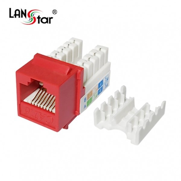 랜스타 키스톤잭, CAT.6, LS-6KTVM [레드]