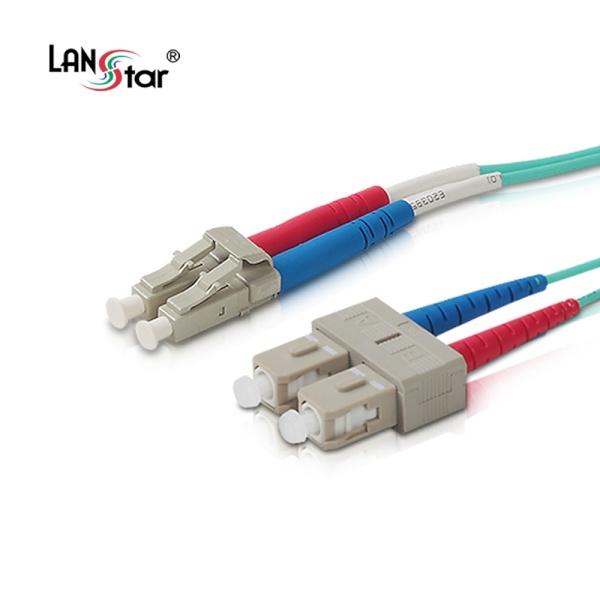 디바이스마트,컴퓨터/모바일/가전 > 네트워크/케이블/컨버터 > 광네트워크 > 광 점퍼코드,,랜스타 LC-SC OM3, 멀티 광점퍼코드 5M [LS-OM3-LCSC-5m],