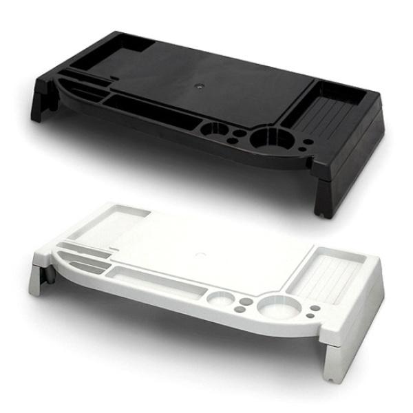 디바이스마트,컴퓨터/모바일/가전 > 모니터/모니터주변기기 > 보안기/받침대 > 모니터받침대,,[(주)위드씨엔에스] 모니터받침대, i-bridge MC-200 [화이트],크기:525X233mm / 높이:73mm  / 재질:플라스틱 / 1단 선반 / 수납함 / 명함거치대 / 스마트폰거치대 / 인주거치대 / 도장거치대 / 케이블홀더 / 볼펜꽂이