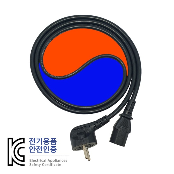 디바이스마트,컴퓨터/모바일/가전 > 네트워크/케이블/컨버터 > 리피터/전원/젠더/변환케이블 > 파워/기타 전원 케이블,,신성 국산 파워케이블 [AC 220V] 벌크 [벌크/1.8M],파워 케이블 / AC 250V 10A / 0.75㎟ X 3C