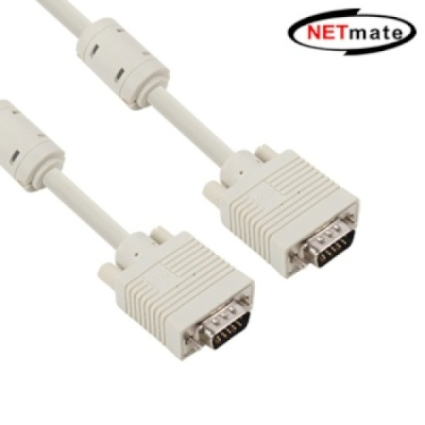 NETmate RGB(VGA) 모니터 케이블 베이지 [베이지/30M] [NMC-R300G]
