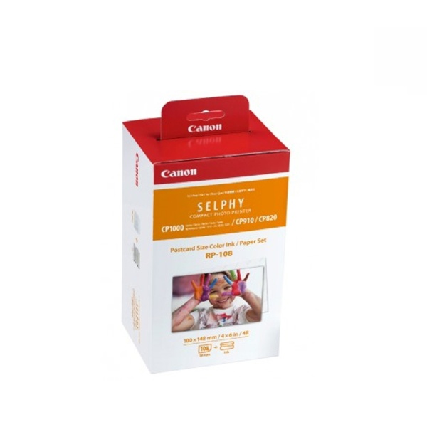 디바이스마트,컴퓨터/모바일/가전 > 잉크/토너/용지/공미디어 > 사무/복사용지 > 전용지/포토용지,,SELPHY 인화지 RP-108 [엽서사이즈/108매/일반용지],포토프린터팩 / 인화지 : 4x6인치(A6) 108매 / 적용모델 : 셀피CP910 전용