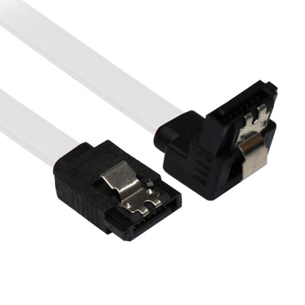 디바이스마트,컴퓨터/모바일/가전 > 네트워크/케이블/컨버터 > 데이터/통신 관련 케이블 > HDD 케이블,,넥시 SATA3 Lock 케이블 FLAT(ㄱ자형) [0.5M] [NX46] [화이트],SATA 케이블 / SATA3 / 0.5M / 락기능 / ㄱ자형